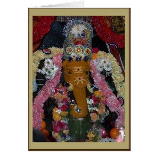 Ganesh Photo Diwali Card - portrait