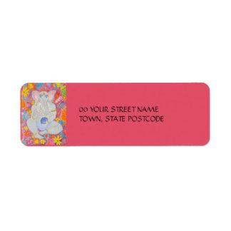 Ganesh pink Return Address Label
