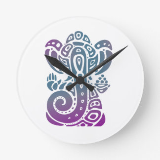 Ganesh PURPLE Round Clock