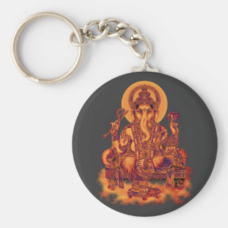 Ganesh - Remover of Obstacles Basic Round Button Key Ring