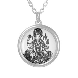 Ganesh Silver Plated Necklace