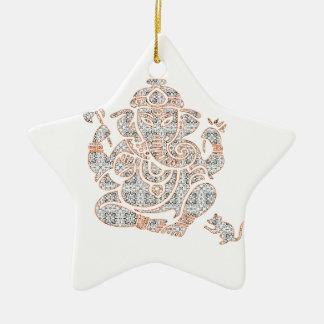 Ganesh Strength Ceramic Ornament