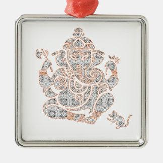 Ganesh Strength Metal Ornament