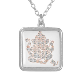 Ganesh Strength Silver Plated Necklace
