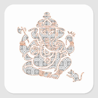 Ganesh Strength Square Sticker