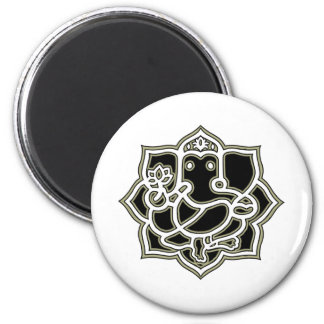 Ganesh the giver of Success 6 Cm Round Magnet