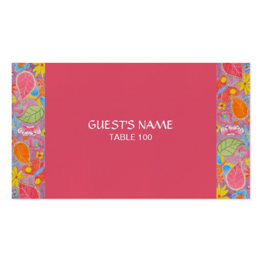 Ganesh Wedding Place Card pink Business Card Templates