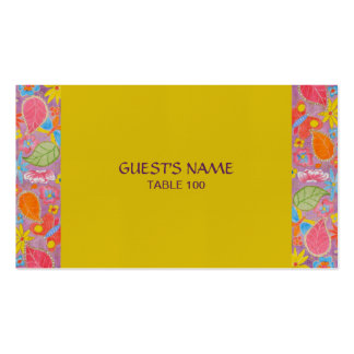 Ganesh Wedding Place Card yellow Business Card Templates