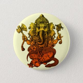 Ganesha7 6 Cm Round Badge