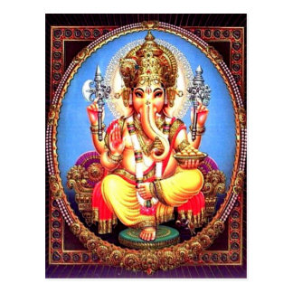 Ganesha (गणेश) Indian Elephant Postcard