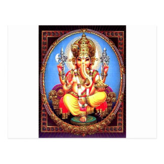 Ganesha (गणेश) Indian Elephant Postcard