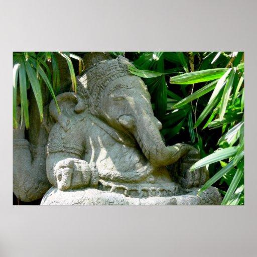 Ganesha Among Foliage Print