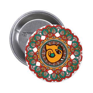 Ganesha Art 6 Cm Round Badge
