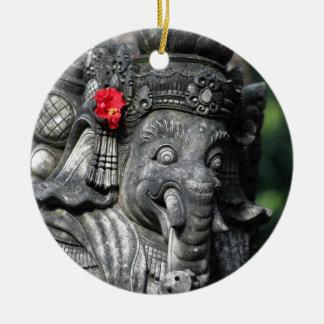 Ganesha elephant Hindu God Ceramic Ornament