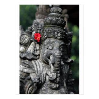 Ganesha elephant Hindu God Postcard