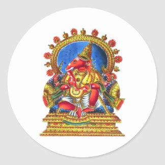 Ganesha Hindu Deity Classic Round Sticker