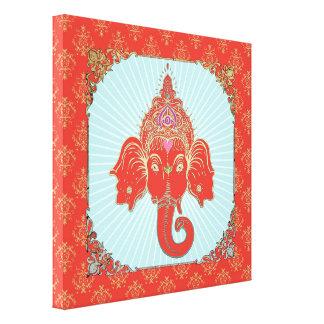 GANESHA Indian God - Wrapped Canvas