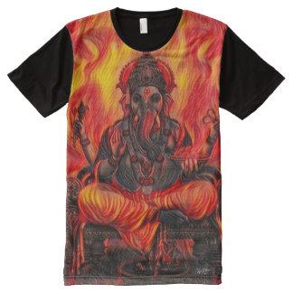 Ganesha Indie Flame Art All-Over Print T-Shirt