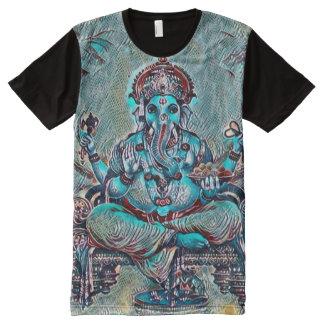 Ganesha Indie Rave Pop Art All-Over Print T-Shirt