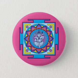 Ganesha Mandala 6 Cm Round Badge