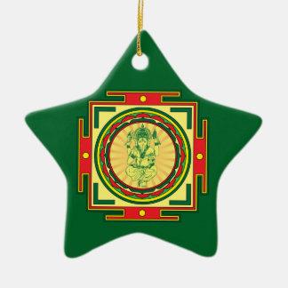 Ganesha Mandala Ceramic Ornament