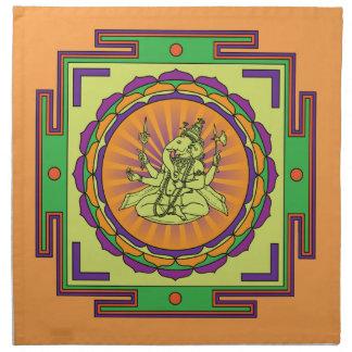Ganesha Mandala Napkin