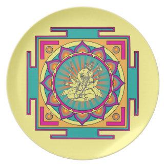 Ganesha Mandala Plate