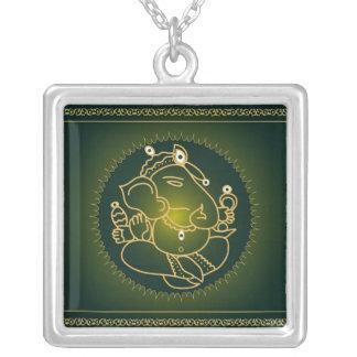 Ganesha on green - Necklace