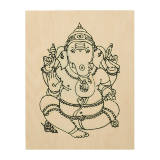 Ganesha Wood Wall Art