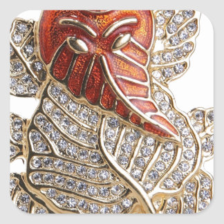 GANESHJI DIAMOND DESIGNS SQUARE STICKER