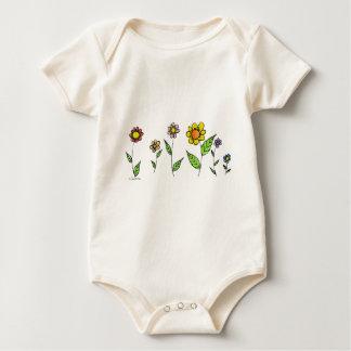 Gang-o-Flowers Baby Bodysuit