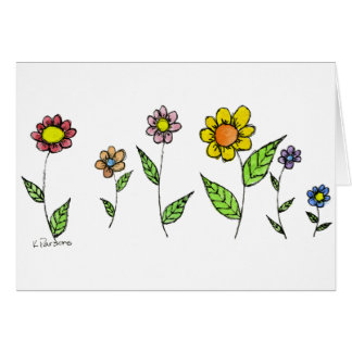 Gang-o-Flowers Greeting Cards