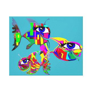 Gang of Happy Fish Canvas Prints