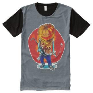 gang squad member pumpkin head All-Over print T-Shirt