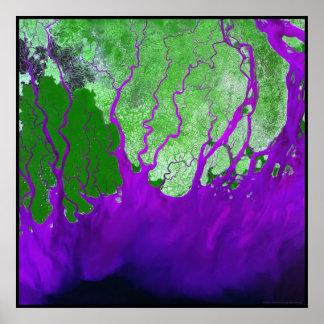 Ganges Delta Bay of Bengal Poster