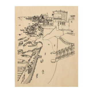 Ganges to river in Varanasi Wood Wall Decor