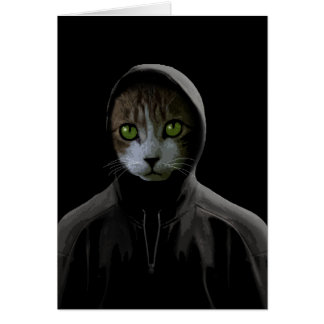Gangsta cat card