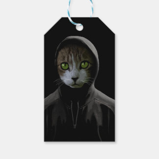 Gangsta cat gift tags