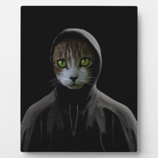 Gangsta cat plaque