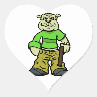 Gangsta dog heart sticker