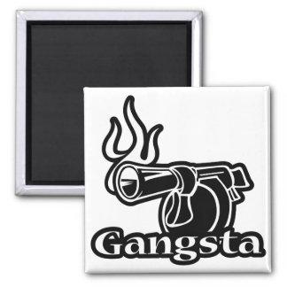 Gangsta - Gangster Revolver Gun Pistol Refrigerator Magnets