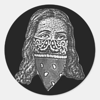 Gangsta Jesus Classic Round Sticker