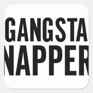 Gangsta Napper Square Sticker