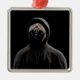Gangsta pug metal ornament
