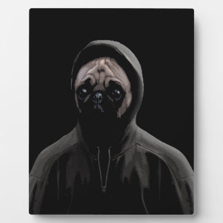 Gangsta pug plaque