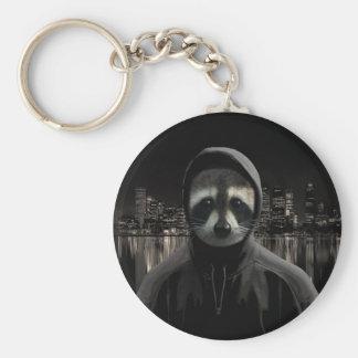 Gangsta racoon key ring