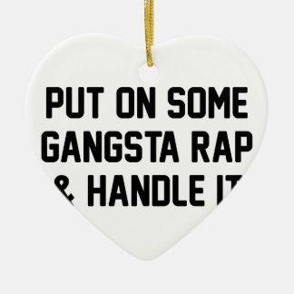 Gangsta Rap & Handle It Ceramic Heart Decoration