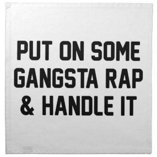 Gangsta Rap & Handle It Napkin