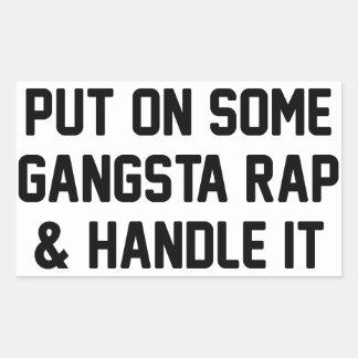 Gangsta Rap & Handle It Rectangular Sticker