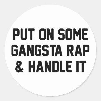 Gangsta Rap & Handle It Round Sticker